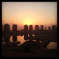 Early morning sunrise, before my redeye flight to Dubai