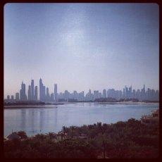 Dubai morning skyline