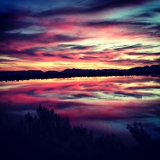Sunset when out for a bike ride … !! Paul Cluver Wines, Grabouw, South Africa