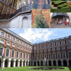 Exploring the history at Hampton Court.