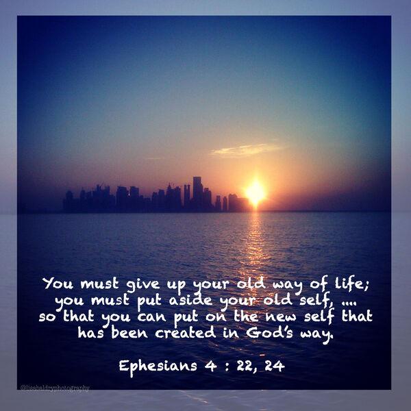 LBP - Ephesians 4 : 22, 24