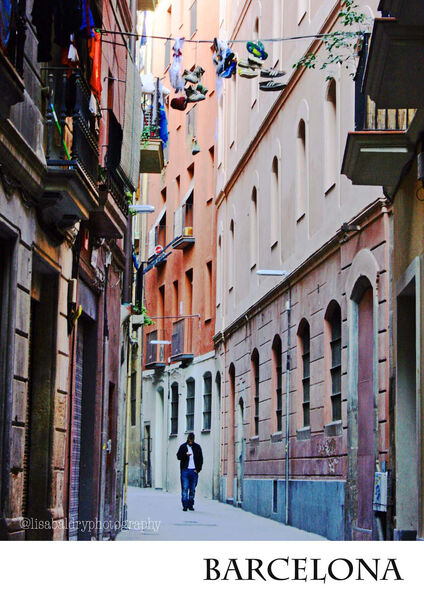 Streets of Barcelona : Poster