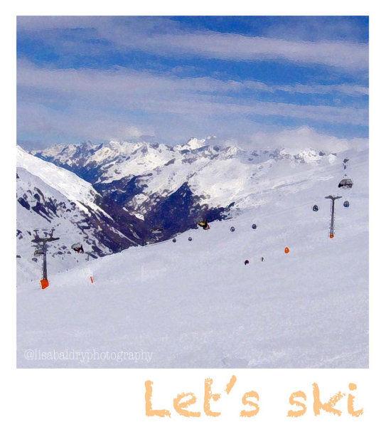 Ski watercolour