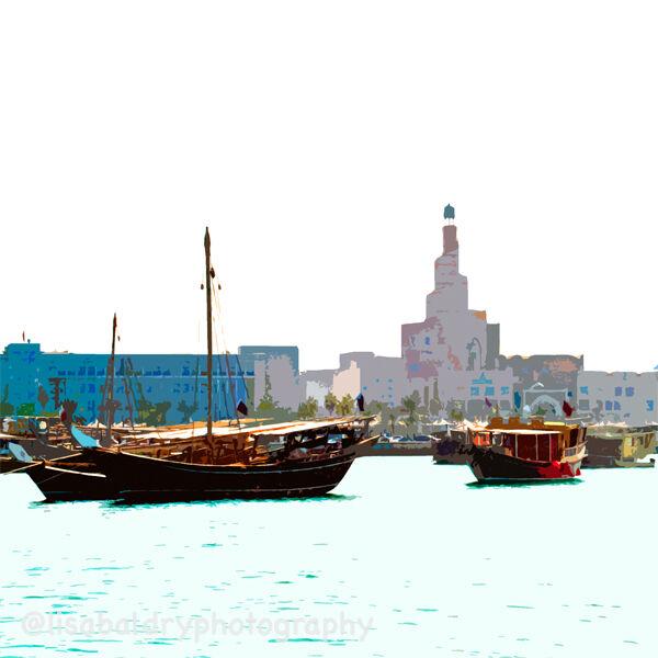 Desert Life : Doha Corniche and Dhows