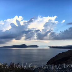 Getting fit with these views wasn't too much of a challenge ... Santorini morning glory!