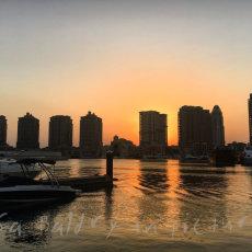 A beautiful desert Sunset ... the Pearl, Doha, Qatar