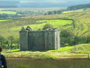 Historic Hermitage Castle, near Newcastleton, Scotland.