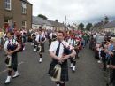 Common riding celebrations in Newcastleton village, Scottish Borders.