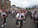 Common riding celebrations in Newcastleton village, Scottish Borders.