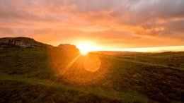 """Saddle Tor Sunset """