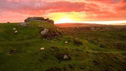 """Aerial Dartmoor Saddle Tor"""