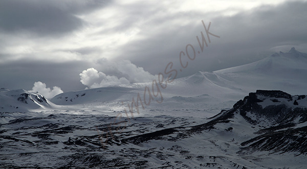 """Icelandic Glacier Snowscape"""