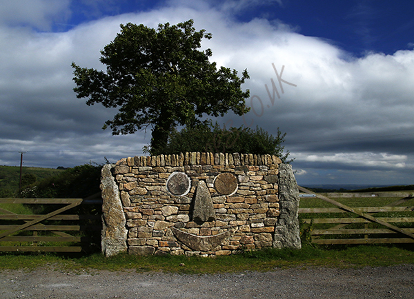 """Smiley Face, Widecombe-in-the-Moor"""