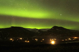 """Spectacular Mountain Light Show"""