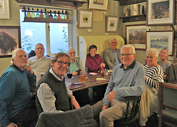 After visiting the studios of Steve Russell, we took some refreshments at the Beaufort Arms, Hawksbury Upton. 16th October 2017