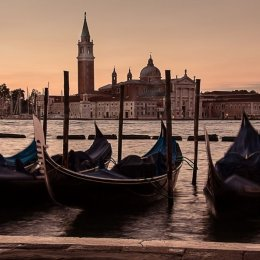 Highly Commended - 'Gondolas Before Sunrise'