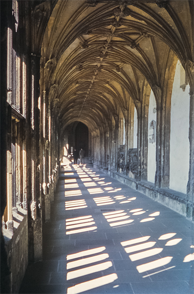 The Cloisters, Wells Cathedral. April 1962.