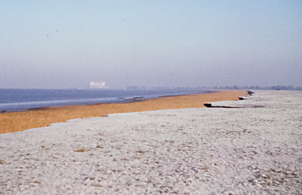 Frosted Foreshore at Littleton on Severn. December 1965