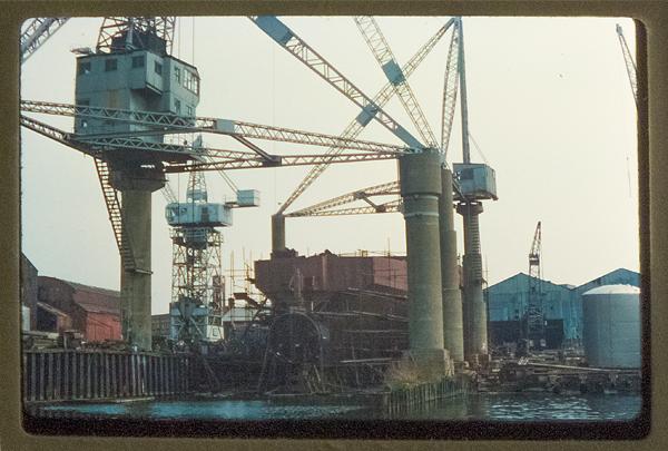 Miranda Guiness, the last ship built at Charles Hill's shipyard. June 1976.