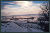 A snowy view from Dundry Hill to the Chew Valley. February 1993