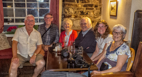 Refreshment time after an outing to Pensford. 18th July 2018
