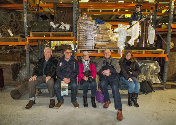On a tour behind the scenes at M Shed. 29th January 2019