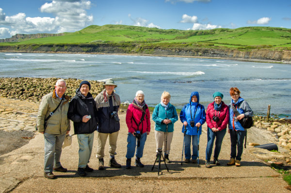 At Kimmeridge Bay on our 4 day outing to Dorset.  May 2018