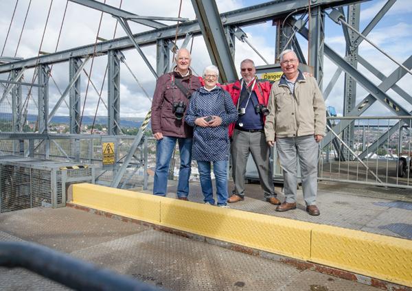 On the Transporter Bridge at Newport 15th September 2017