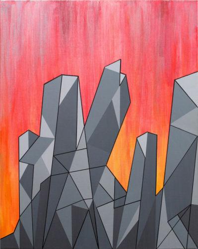 Crystalline Landscape V (Fire Crystals)