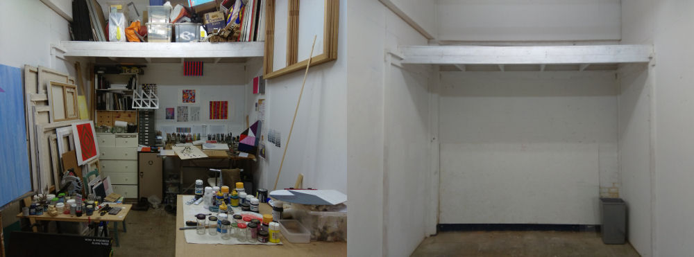 Studio: before and after