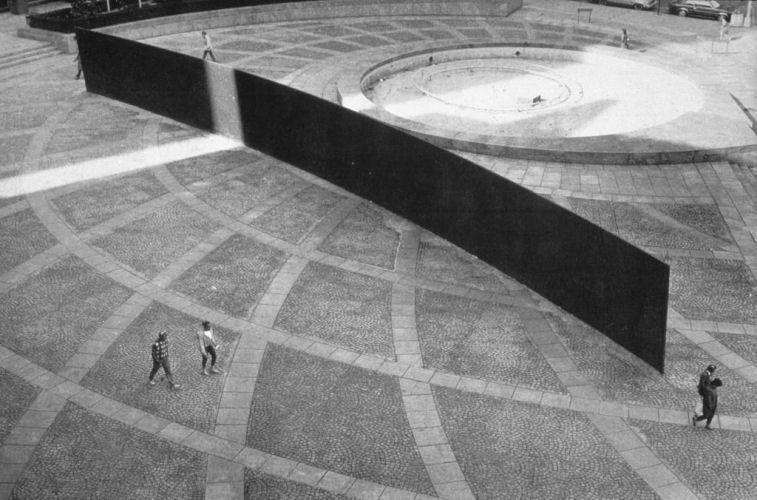 Tilted Arc by Richard Serra