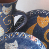 Cat Bowl Plate and Mug