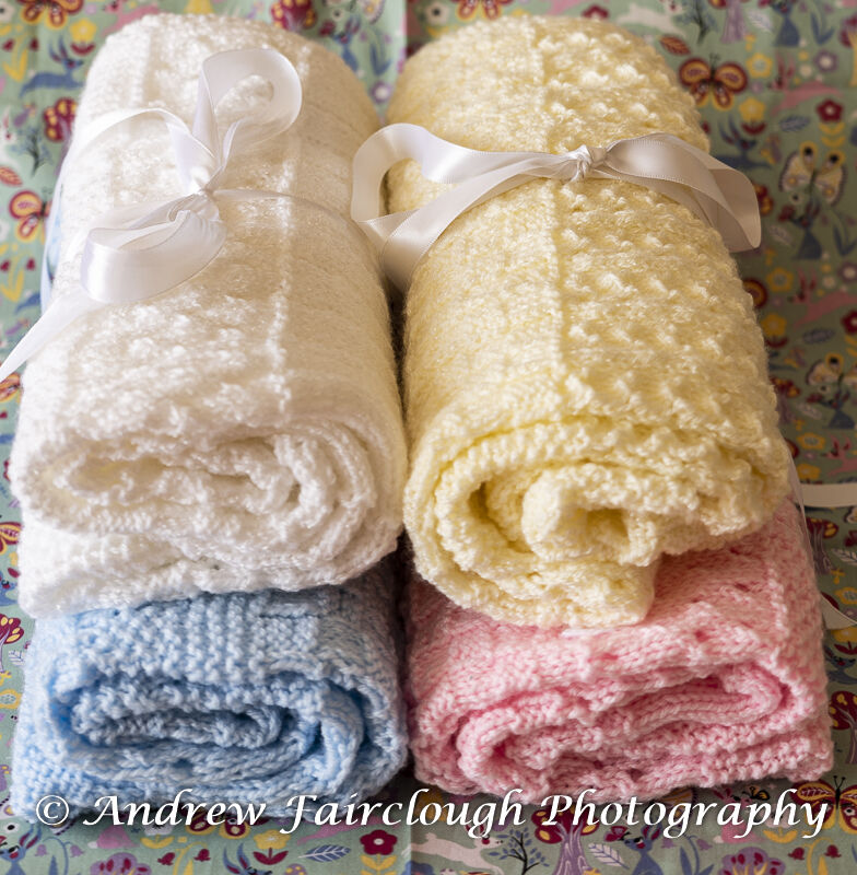 Blankets including measurements.