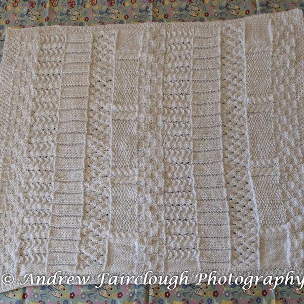 White Baby Blanket - Four Edges Ribbed.