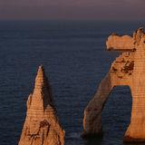 Seacliffs in late evening light