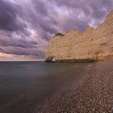Cliffs after sunset