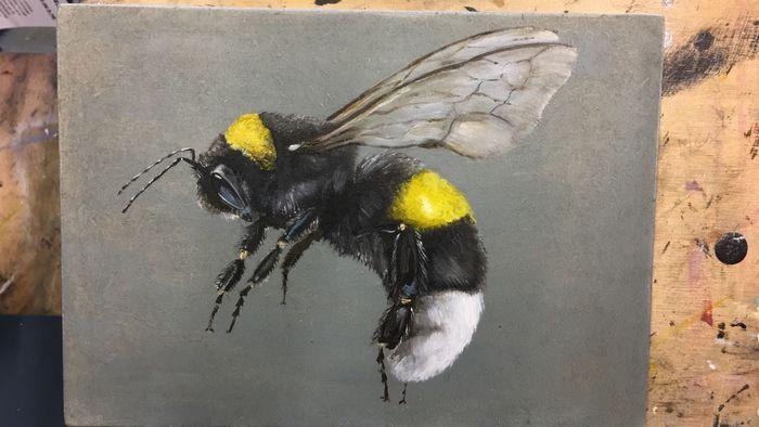 Flying bumblebee