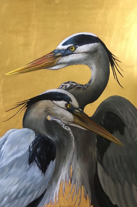 Herons - limited edition print