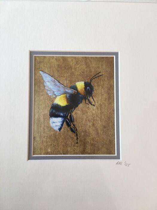 Flying Bumblebee print