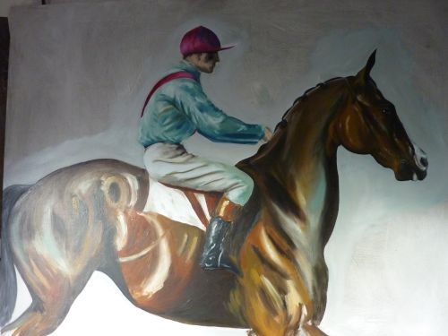 To The Start (after Munnings)