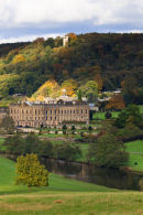 Chatsworth House with Hunting Tower