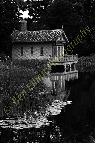 Monochrome boathouse