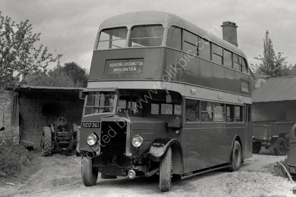 ex SOUTHDOWN - Leyland TD No 261 (GCD 361) at Bourton on the Water in 1963