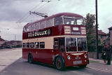 RCT Trolleybus No 188 - VRD 188 with Omnibus Society party