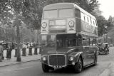 LONDON ROUTEMASTER - RM14 (VLT 14) in Central London in 1959