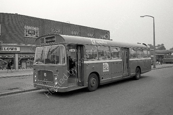 CROSVILLE - Bristol RELL No SRG191 (HFM 191J) in Crewe in 1983.