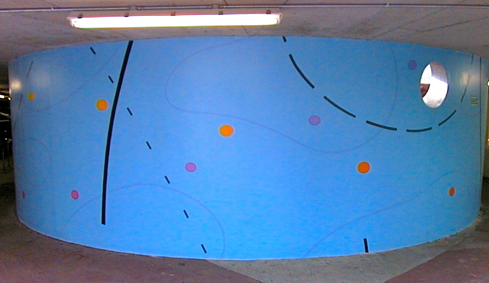 Architectural mural work, City of Bristol College, 2001