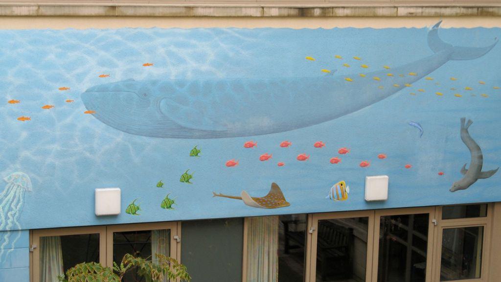 Bath Hospital Mural marine 2