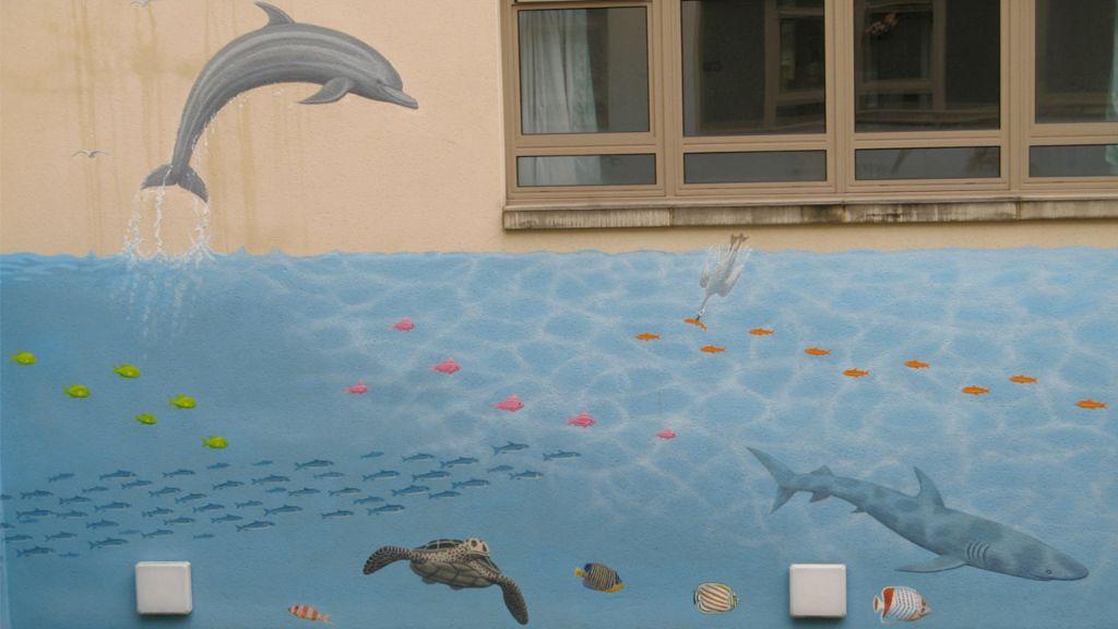 Bath Hospital Mural marine 3