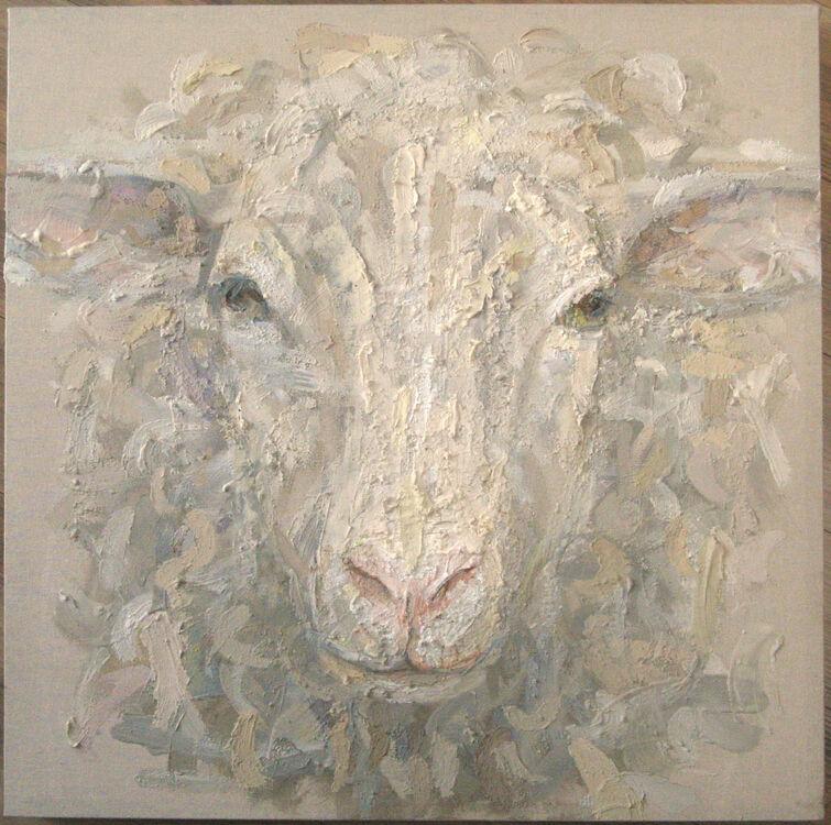 thick acrylic on raw canvas, 40x40cm